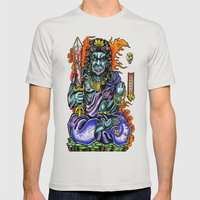 fudo Mens Fitted Tee Silver SMALL