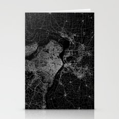 Saint Louis Map Stationery Cards