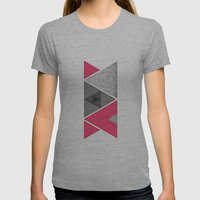 Optical illusion Womens Fitted Tee Athletic Grey SMALL