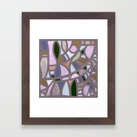The texture of twilight Framed Art Print
