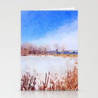 Winter Along The Mississ… Stationery Cards