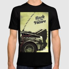 Back to the future SMALL Mens Fitted Tee Black