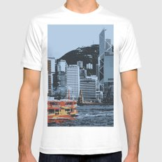 Star Ferry Hong Kong SMALL Mens Fitted Tee White