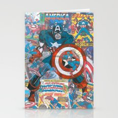 Vintage Comic Capt America Stationery Cards