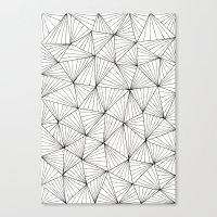 Stripe Triangles Canvas Print