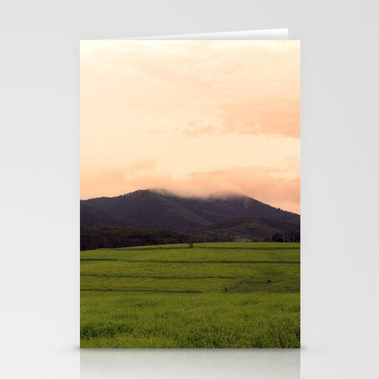 Morning Glory in the Green Stationery Card