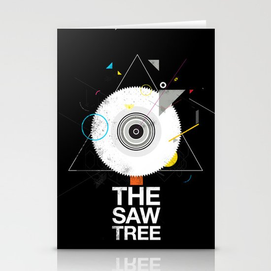 The saw tree Stationery Card