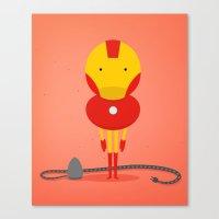 My ironing Hero! Canvas Print