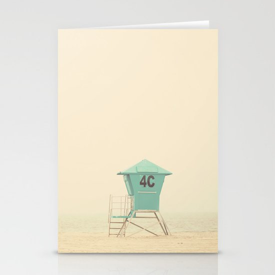 the sound of outer ocean on a beach ... Stationery Card