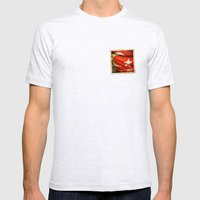 Grunge sticker of Turkey flag Mens Fitted Tee Ash Grey SMALL