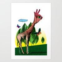 Girafe Art Print