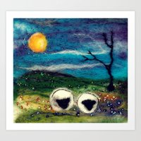 Highland Sheep Art Print