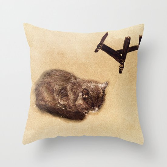 floor nap Throw Pillow