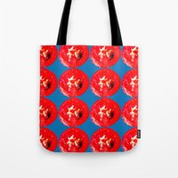 Tote Bag featuring tomato by Panic Junkie
