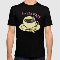 BREAKFAST Black SMALL Mens Fitted Tee