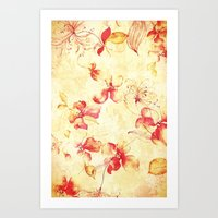 VINTAGE FLOWERS XIII - for iphone Art Print