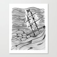 capsized Canvas Print