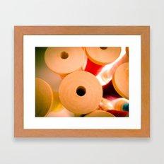 Wooden Spool II Framed Art Print