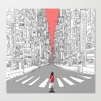 Lonely Metropolis Canvas Print