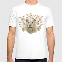 Lambs Led By A Lion Mens Fitted Tee White SMALL