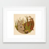 Foxglove Framed Art Print