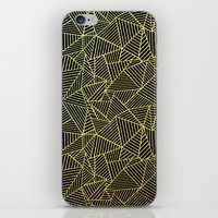 Ab 2 R Black and Gold iPhone & iPod Skin