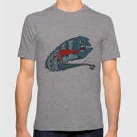 Cannon Ball (Blue&Red) Mens Fitted Tee Athletic Grey SMALL