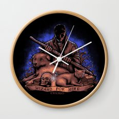 Wizard For Hire Wall Clock