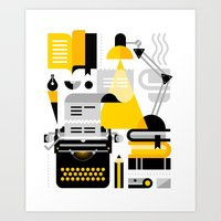 Creative Writing Art Print