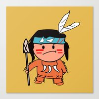 Little Red Indian Canvas Print