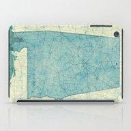 Alabama Map Blue Vintage iPad Case