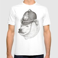 Bearly Legal Mens Fitted Tee White SMALL