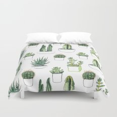 Watercolour Cacti And Su… Duvet Cover