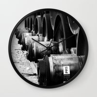 Rail Wheel Wall Clock