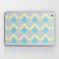 Diamond Art Deco; - Blue Laptop & iPad Skin