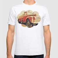 Full Truck Heroes Never … Mens Fitted Tee Ash Grey SMALL