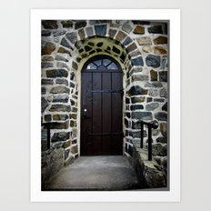 Church Door - Raelingen, Norway Art Print