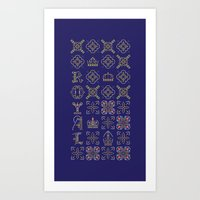 Royal [pattern] Art Print