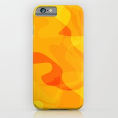 Orange Abstract Shapes iPhone 6s Slim Case