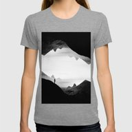 Black Wasteland Isolatio… Womens Fitted Tee Tri-Grey MEDIUM