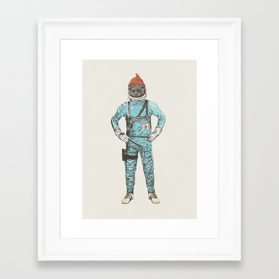 Zissou In Space Framed Art Print