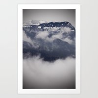Cold Columbia Gorge Morning Staring Into Washington's Mountains Art Print