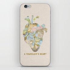 A Traveler's Heart iPhone & iPod Skin