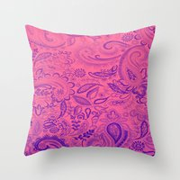 Ombre Paisley Throw Pillow