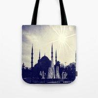 Blue Istanbul Tote Bag