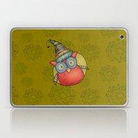 Puki Owl - mustard Laptop & iPad Skin