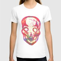 Skull Womens Fitted Tee White SMALL