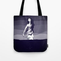Woman in the ocean  Tote Bag