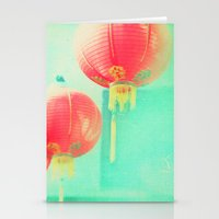 Red Paper Lanterns. Chin… Stationery Cards