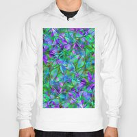 Floral Abstract Stained Glass G295 Hoody